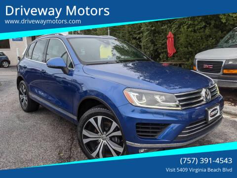 2017 Volkswagen Touareg for sale at Driveway Motors in Virginia Beach VA