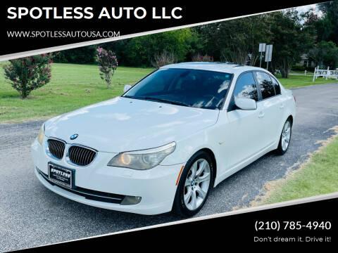 2009 BMW 5 Series for sale at SPOTLESS AUTO LLC in San Antonio TX