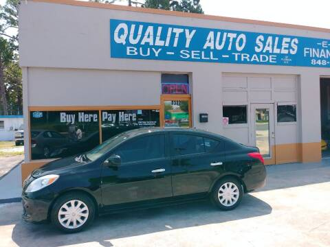 2012 Nissan Versa for sale at QUALITY AUTO SALES OF FLORIDA in New Port Richey FL