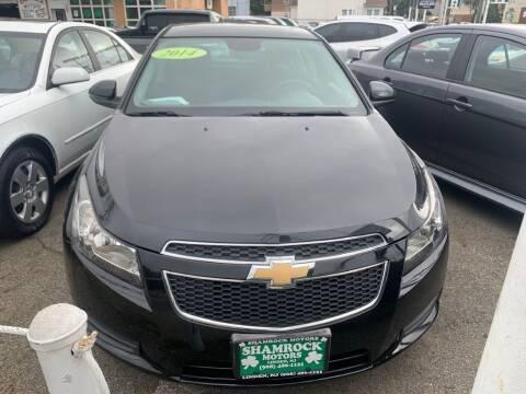 2014 Chevrolet Cruze for sale at Park Avenue Auto Lot Inc in Linden NJ