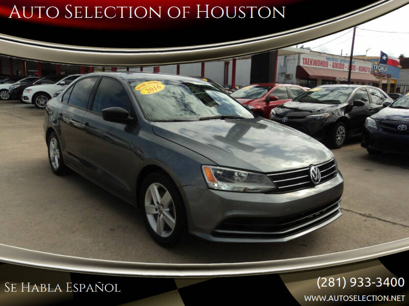 2016 Volkswagen Jetta for sale at Auto Selection of Houston in Houston TX