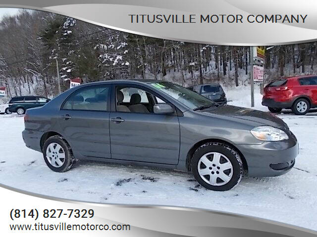 2006 Toyota Corolla for sale at Titusville Motor Company in Titusville PA