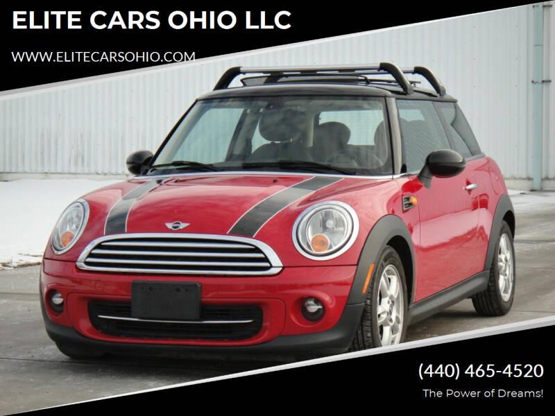 2013 MINI Hardtop for sale at ELITE CARS OHIO LLC in Solon OH