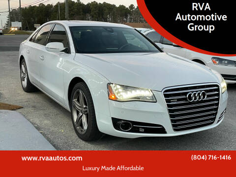2013 Audi A8 for sale at RVA Automotive Group in North Chesterfield VA