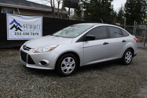 2013 Ford Focus for sale at Summit Auto Sales in Puyallup WA