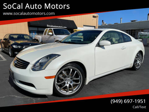 2005 Infiniti G35 for sale at SoCal Auto Motors in Costa Mesa CA