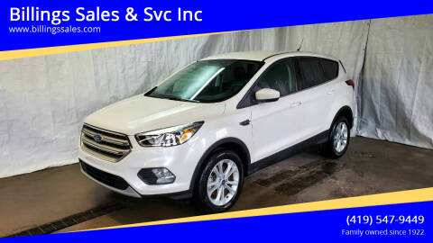 2019 Ford Escape for sale at Billings Sales & Svc Inc in Clyde OH