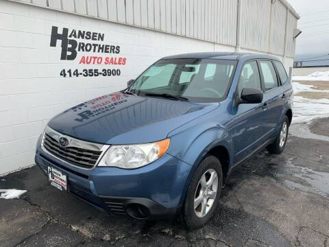 2010 Subaru Forester for sale at HANSEN BROTHERS AUTO SALES in Milwaukee WI