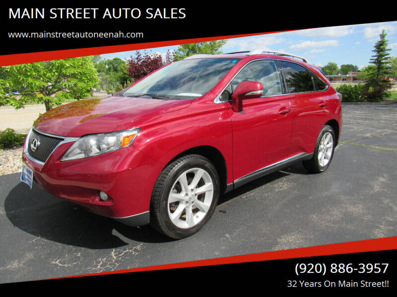 2011 Lexus RX 350 for sale at MAIN STREET AUTO SALES in Neenah WI