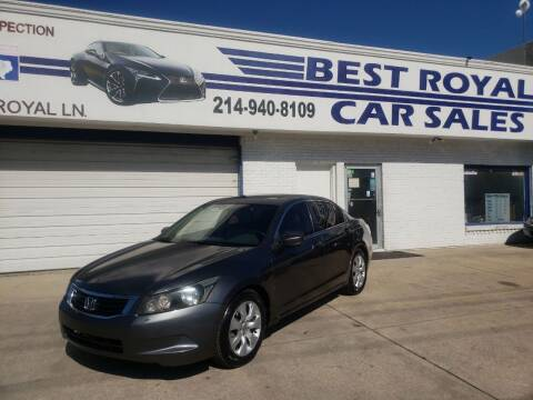 2009 Honda Accord for sale at Best Royal Car Sales in Dallas TX