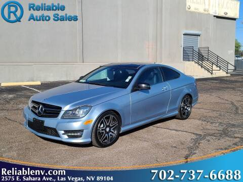 2013 Mercedes-Benz C-Class for sale at Reliable Auto Sales in Las Vegas NV