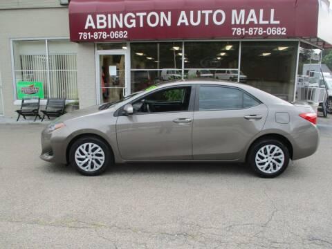 2017 Toyota Corolla for sale at Abington Auto Mall LLC in Abington MA