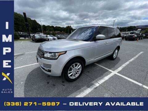 2017 Land Rover Range Rover for sale at Impex Auto Sales in Greensboro NC