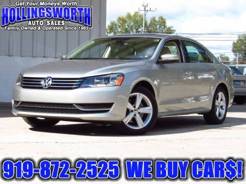 2013 Volkswagen Passat for sale at Hollingsworth Auto Sales in Raleigh NC