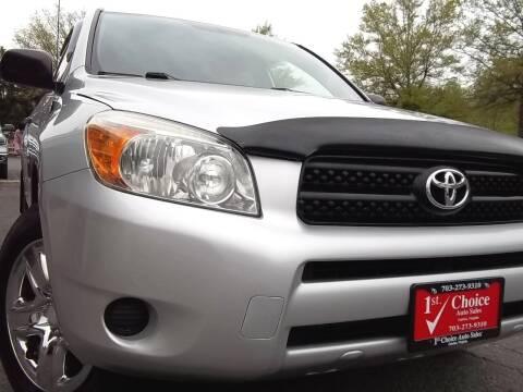 2006 Toyota RAV4 for sale at 1st Choice Auto Sales in Fairfax VA
