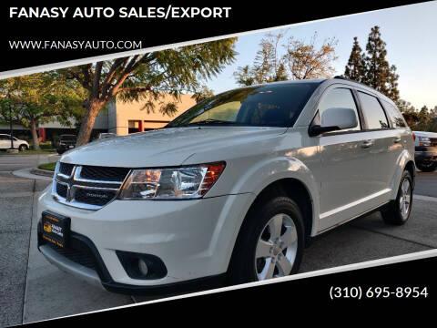 2012 Dodge Journey for sale at FANASY AUTO SALES/EXPORT in Yorba Linda CA