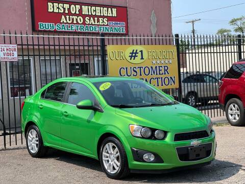 2015 Chevrolet Sonic for sale at Best of Michigan Auto Sales in Detroit MI