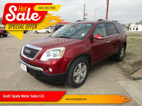 2011 GMC Acadia for sale at Scott Spady Motor Sales LLC in Hastings NE