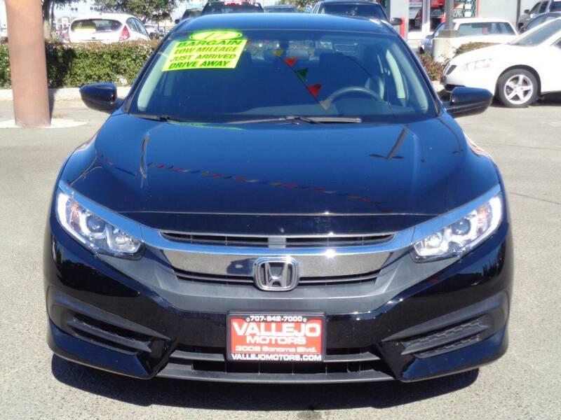 2017 Honda Civic for sale at Vallejo Motors in Vallejo CA