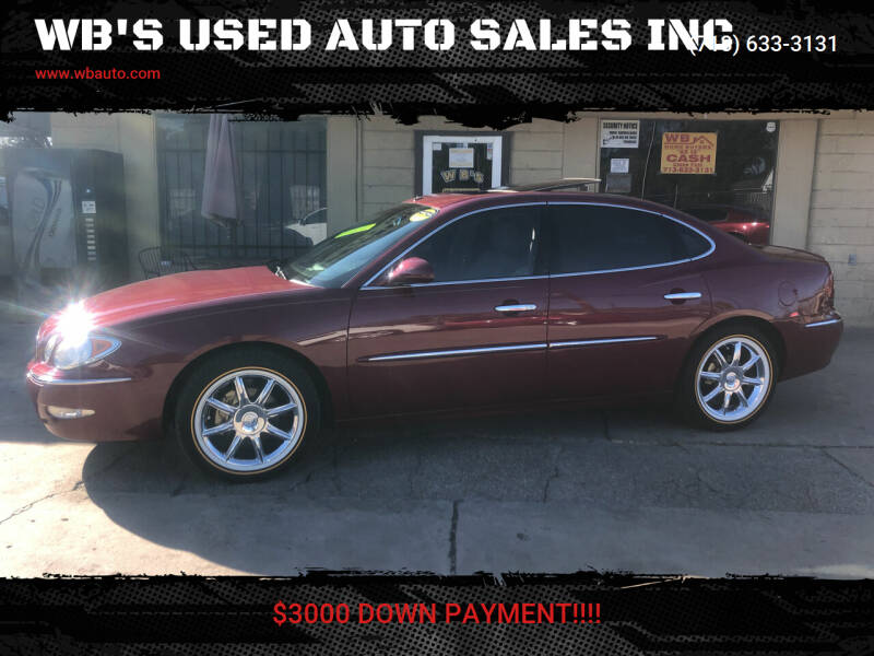 2005 Buick LaCrosse for sale at WB'S USED AUTO SALES INC in Houston TX
