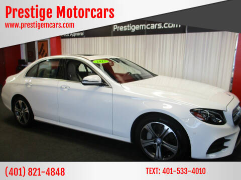 2017 Mercedes-Benz E-Class for sale at Prestige Motorcars in Warwick RI