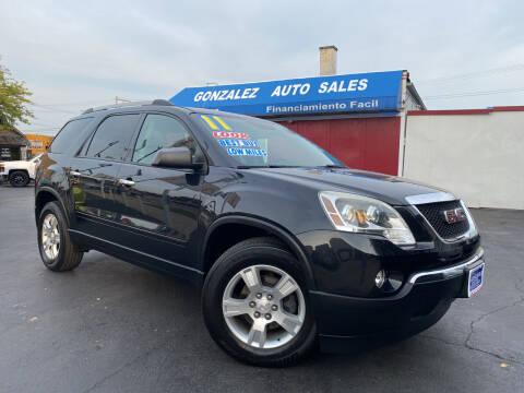 2011 GMC Acadia for sale at Gonzalez Auto Sales in Joliet IL