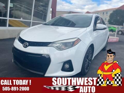 2015 Toyota Corolla for sale at SOUTHWEST AUTO in Albuquerque NM