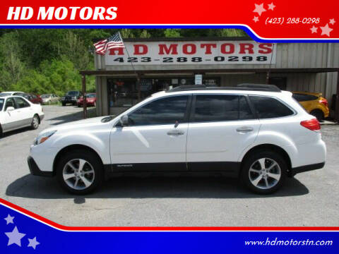 2013 Subaru Outback for sale at HD MOTORS in Kingsport TN