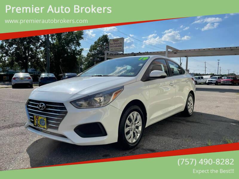 2019 Hyundai Accent for sale at Premier Auto Brokers in Virginia Beach VA