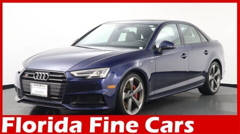 2018 Audi S4 for sale at Florida Fine Cars - West Palm Beach in West Palm Beach FL
