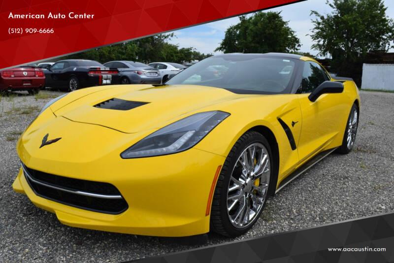 2015 Chevrolet Corvette for sale at American Auto Center in Austin TX