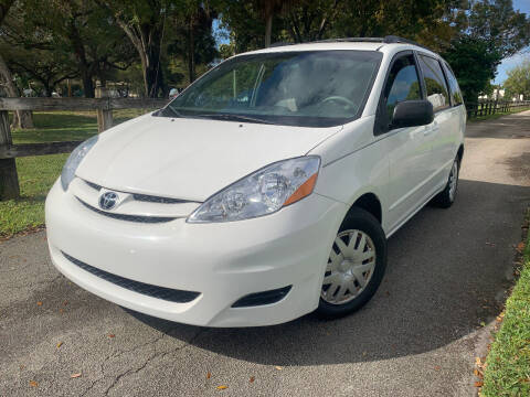 2008 Toyota Sienna for sale at LESS PRICE AUTO BROKER in Hollywood FL
