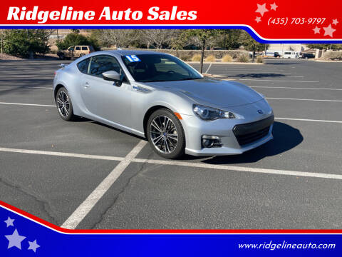 2015 Subaru BRZ for sale at Ridgeline Auto Sales in Saint George UT