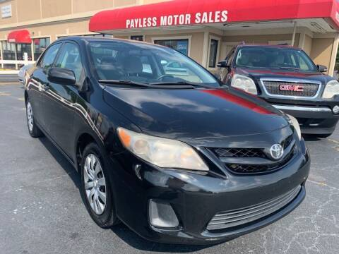 2012 Toyota Corolla for sale at Payless Motor Sales LLC in Burlington NC