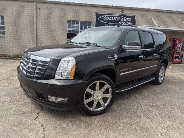 2012 Cadillac Escalade ESV for sale at Quality Auto of Collins in Collins MS