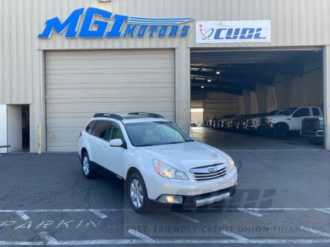 2012 Subaru Outback for sale at MGI Motors in Sacramento CA