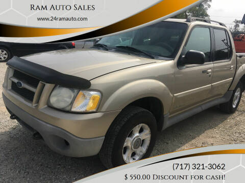 2001 Ford Explorer Sport Trac for sale at Ram Auto Sales in Gettysburg PA