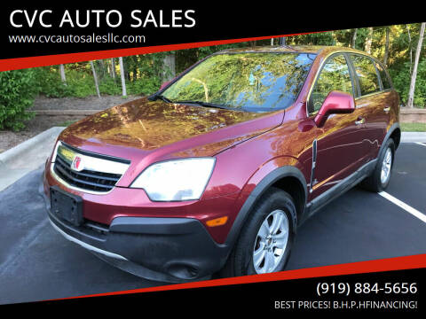 2008 Saturn Vue for sale at CVC AUTO SALES in Durham NC
