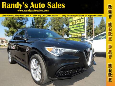 2018 Alfa Romeo Stelvio for sale at Randy's Auto Sales in Ontario CA