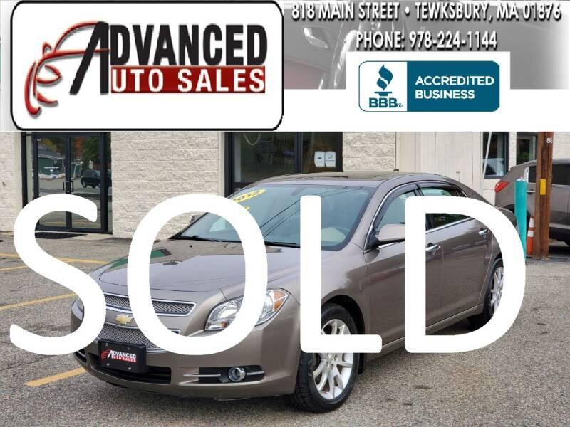 2012 Chevrolet Malibu for sale at Advanced Auto Sales in Tewksbury MA