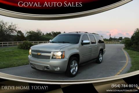 2013 Chevrolet Suburban for sale at Goval Auto Sales in Pompano Beach FL