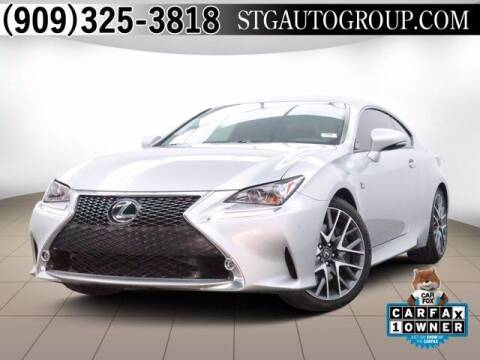 2017 Lexus RC 350 for sale at STG Auto Group in Montclair CA