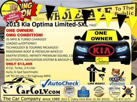 2013 Kia Optima for sale at The Car Company in Las Vegas NV