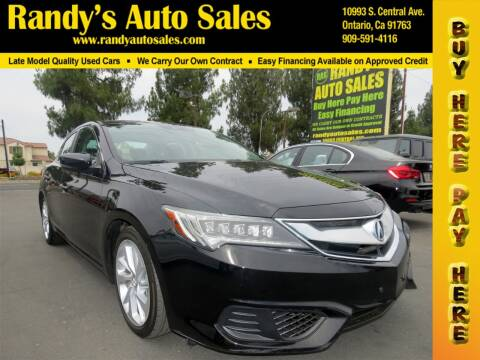 2017 Acura ILX for sale at Randy's Auto Sales in Ontario CA