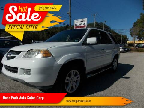 2004 Acura MDX for sale at Deer Park Auto Sales Corp in Newport News VA