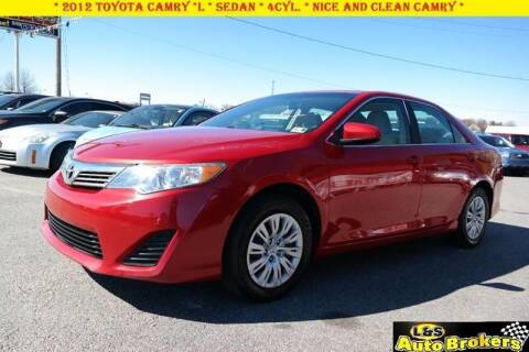 2012 Toyota Camry for sale at L & S AUTO BROKERS in Fredericksburg VA