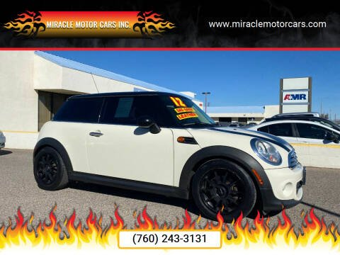 2012 MINI Cooper Hardtop for sale at Miracle Motor Cars Inc. in Victorville CA
