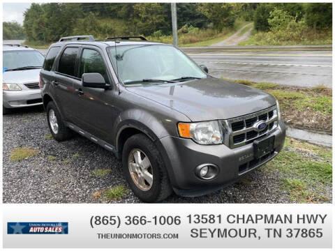2012 Ford Escape for sale at Union Motors in Seymour TN