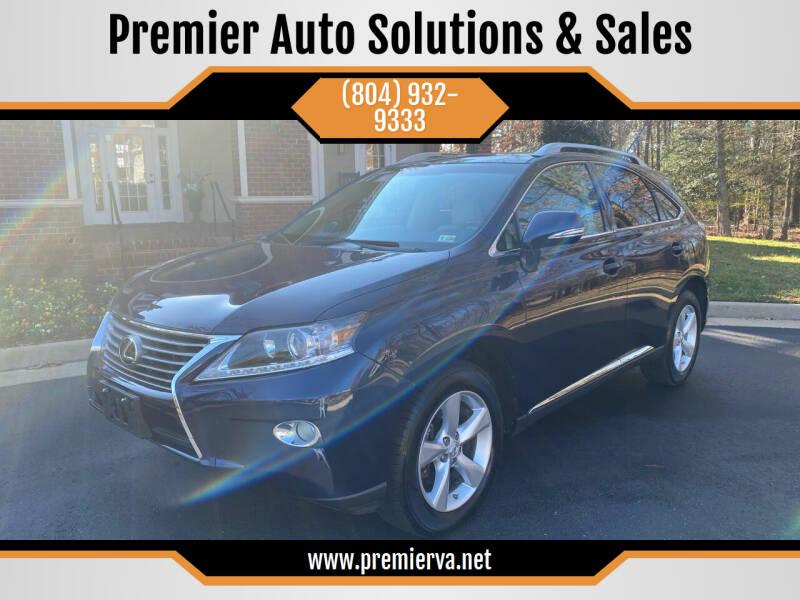 2013 Lexus RX 350 for sale at Premier Auto Solutions & Sales in Quinton VA
