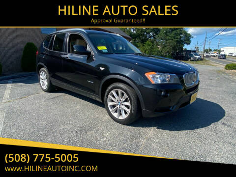 2013 BMW X3 for sale at HILINE AUTO SALES in Hyannis MA